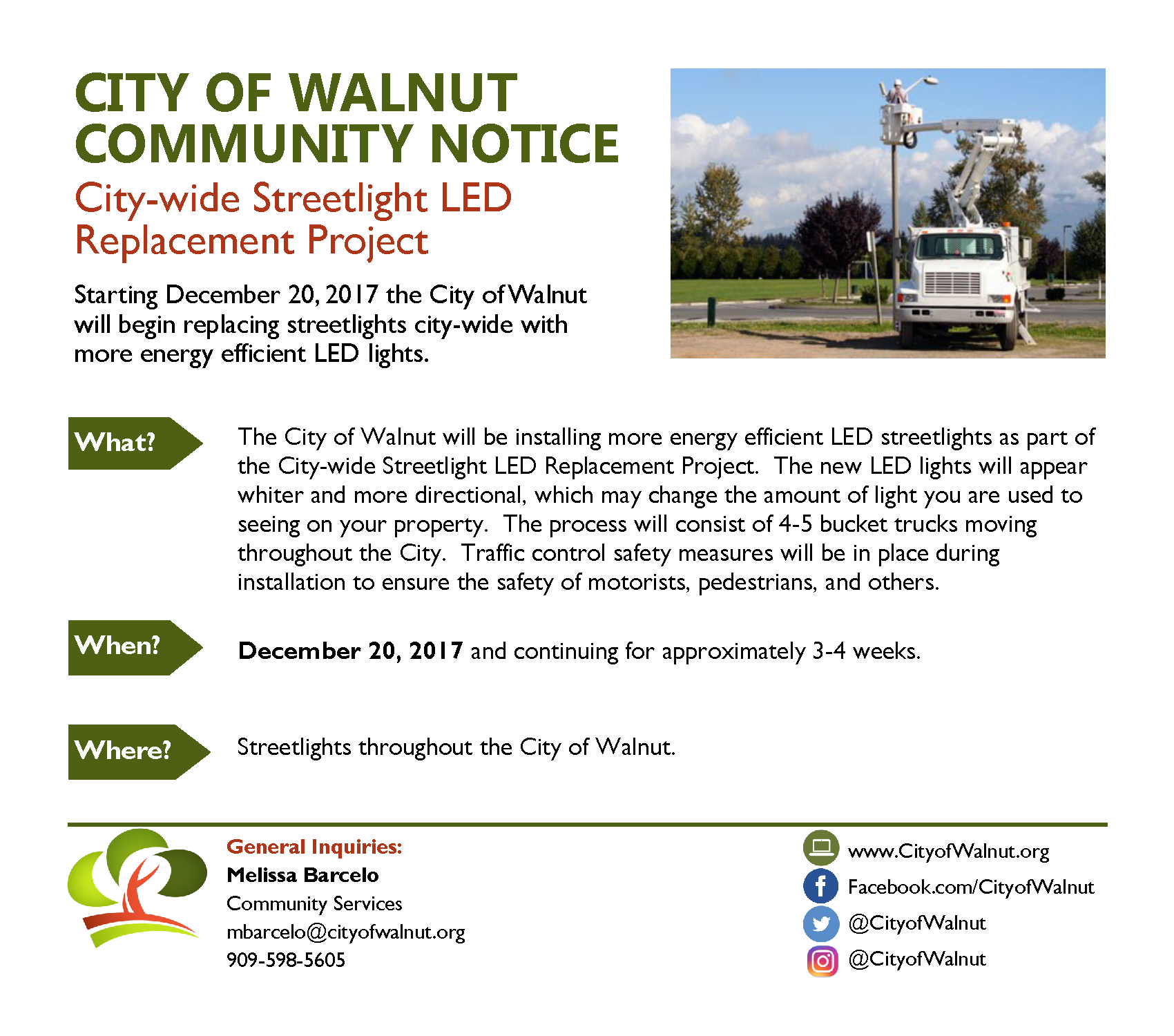 City-wide Streetlight LED Replacement Project
